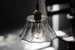 Petunia glass mid century pendant light - model A details