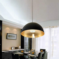 Semi Circular Mortar Pendant Light