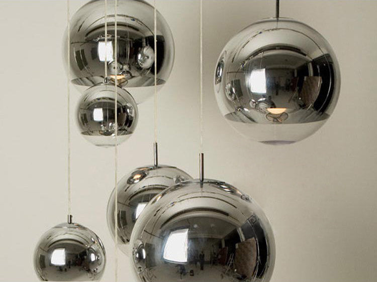 Silver Shade Mirror Ball Pendant Light