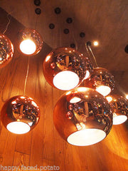 Copper shade ball Pendant Light