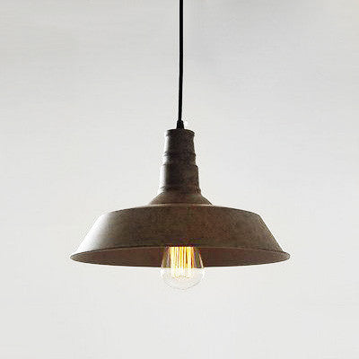 Vintage Industrial Pendant Light Rustic brown Tudo And Co