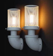 Mesh Iron Pipe Industrial Retro Wall Light Sconce