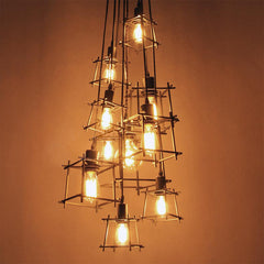 Bismuth Cube Cluster Pendant Light Chandelier - on