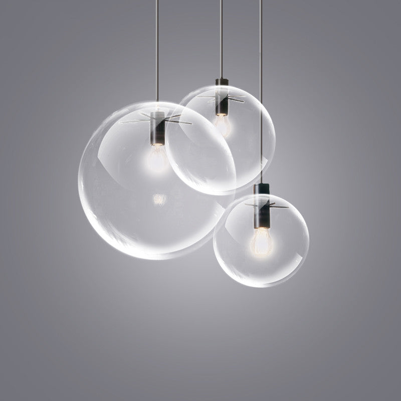 Glass lamp shade bubble ball minimalist modern simple tudo and co minimalist modern glass ball pendant ceiling light mozeypictures Choice Image