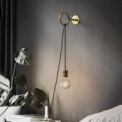 Circus Loop Minimalist Wall Light With Wall Socket