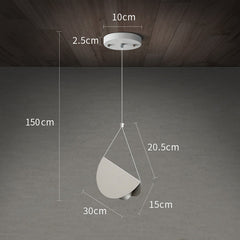White glider pendant light chandelier measurements single head