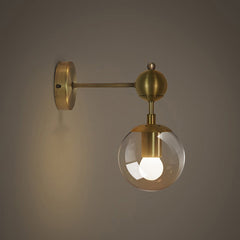 Ritz single wall light sconce side view