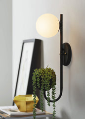 Ritz Single Head Pot Plant Wall Light