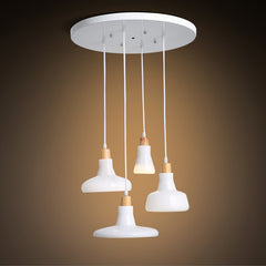 White Glass Shade Brokis Shadow Replica LED Pendant light Chandelier