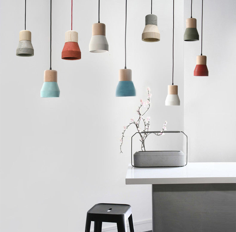 minimalist lighting. Toro Concrete Wooden Minimalist Pendant Light Lighting