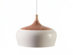Kalmar Minimalist White Pendant Light With Wood