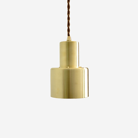 Smith's brushed brass pendant Light