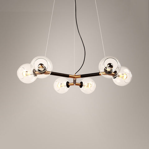 Schiera 6 head branching chandelier