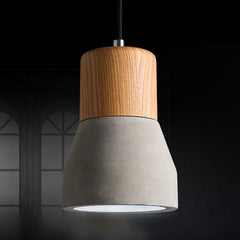 Concrete Wooden Stockholm Minimalist Pendant Light - Model B