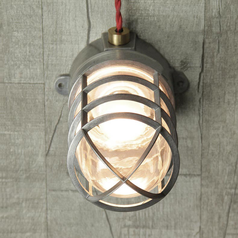 Classic Bunker Nautical Cage Ceiling Light Tudo Amp Co