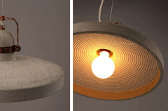 Vardo Concrete Cement Rustic Pendant Light details