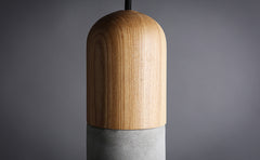 Concrete Wooden Stockholm Minimalist Pendant Light - top view
