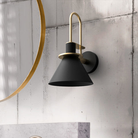 Brass Trumpet Modern Wall Light