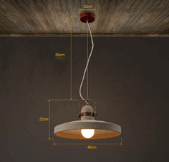 Vardo Concrete Cement Rustic Pendant Light measurements