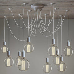 10 Light bulb cluster lamp in white