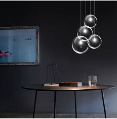 Minimalist Modern Glass Ball Pendant Ceiling Light