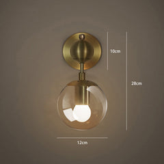 Ritz single wall light sconce measurements