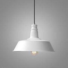 Retro Industrial Pendant Light in white
