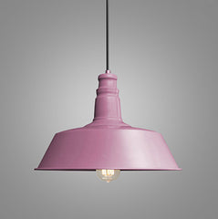 Retro Industrial Pendant Light in pink