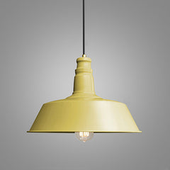 Retro Industrial Pendant Light in yellow
