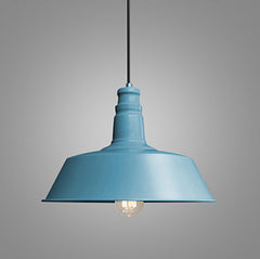 Retro Industrial Pendant Light in blue