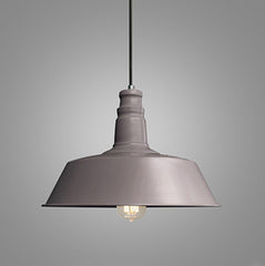Retro Industrial Pendant Light in brown