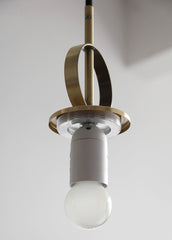 Cradle Brass mid century pulley pendant light