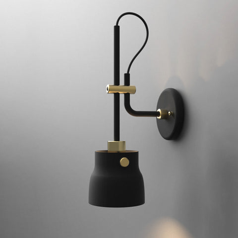 Black Hudson Wall Light