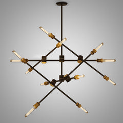 Circa pendant light - 6 lines (12 heads)