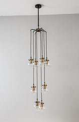 Willow Ritz 8 head cable chandelier
