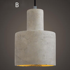 Concrete Oslo Minimalist Pendant Light