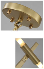 Tenere Tree Contemporary Designer Ceiling Pendant Light gold ceiling rose and close up