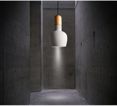 Concrete Wooden Stockholm Minimalist Pendant Light - hallway