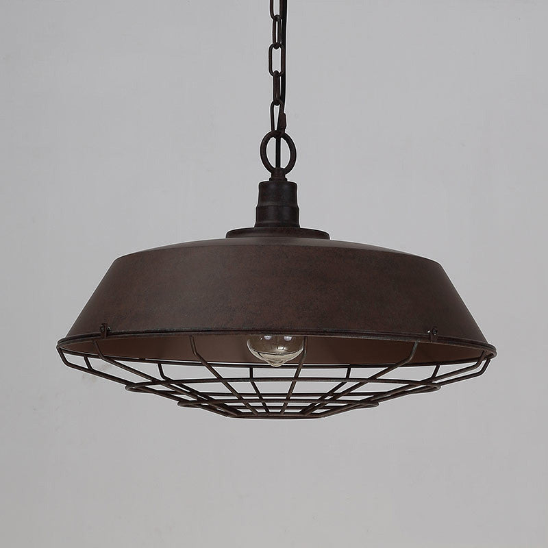 Rustic Industrial Cage Pendant Light - Tudo and Co – Tudo And Co