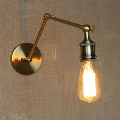 Brass Bare Bulb Industrial Wall Light