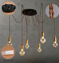 Crystal bulb chandelier parts