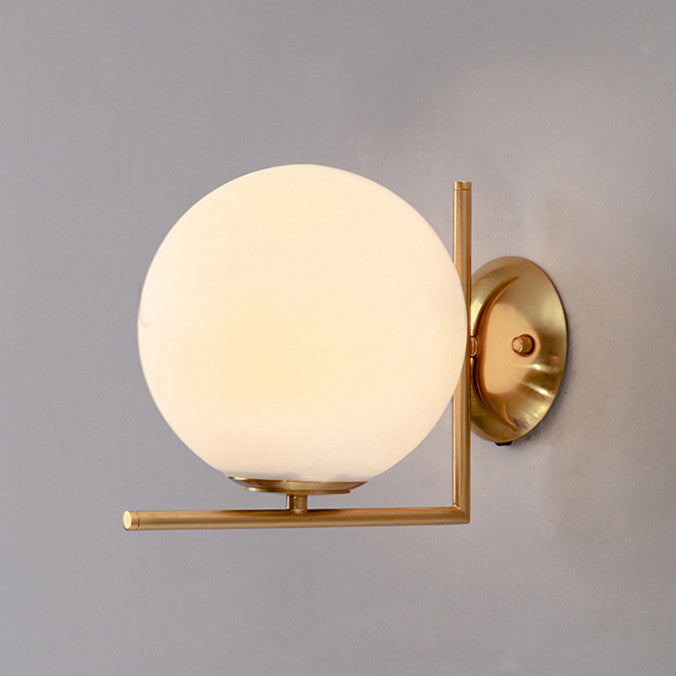 Trendl Frosted Dome Brushed Brass L wall light / ceiling light Tudo And Co