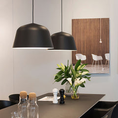 Ambit pendant light in dining room in black