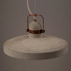 Vardo Concrete Cement Rustic Pendant Light top view