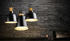 Newman Black Dome Industrial Loft Pendant Light