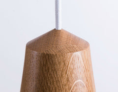 Minimalist Scandinavian Wooden Pendant Light. Modern Ceiling Light