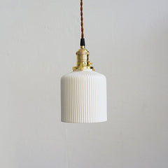 art deco ceramic pendant light cloche