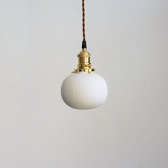 art deco ceramic pendant light anemone