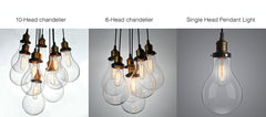Big Bulbs Cluster Pendant Light Chandelier options