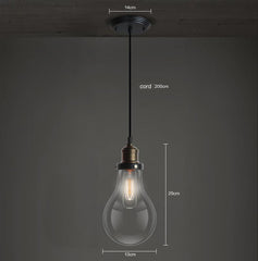 Big Bulbs Pendant Light - Measurements